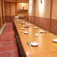 各種宴会に人気の個室は最大25名まで