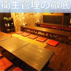 落ち着いた雰囲気の店内でたっぷりとお食事をお楽しみ頂けます!ゆったり寛げるお座敷席をご用意しております。