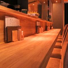 【カウンター席ございます】おひとり様大歓迎。デートや仲の良いご友人とのお食事にも最適です。