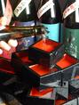 お祝いごとなどには「地酒の枡タワー」を贈呈!枡を片手にカンパーイ!