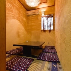 プライベート空間をお楽しみいただける個室。ご家族でのご利用にもオススメです。