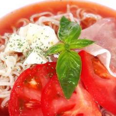 料理メニュー写真トマト&生ハム冷麺♪