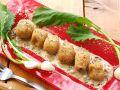 料理メニュー写真ポルチーニ茸を練りこんだニョッキのフリット キノコのクリームソース