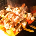 【PISTE自慢の串焼きが旨い!!理由2】備長炭で1本1本丁寧に焼き上げる串焼き。