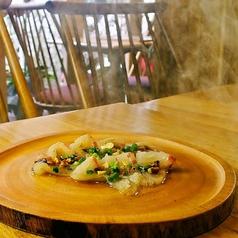鯛の燻製カルパッチョ