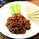 料理メニュー写真豚肉の中華味噌炒めクレープ巻き