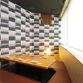 ◆2~6名様向き掘りごたつ個室◆完全個室で接待にも最適!壁と扉に完全に囲われた完全個室のお席です。他のお客様のやり取りはもちろん、視線も気にならないゆったりとした個室席です。合コンやお顔合わせ、会食などにも安心してご利用ください。
