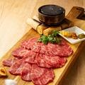 料理メニュー写真黒毛和牛モモ肉のカルパッチョ