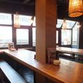 合コンや仲間との飲み会に人気のテーブル席。