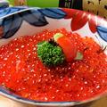 料理メニュー写真<当店で味付けしたイクラタップリ!> イクラ丼 ~汁付~