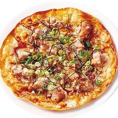 料理メニュー写真クリスピーおつまみテリヤキチキンピザ
