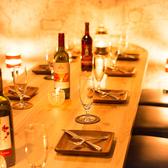 他にはない広々個室席を完備!雰囲気抜群のお席なので、ご友人とのお食事はもちろん、デートや合コンにもご利用いただけます♪※系列店舗との併設店舗となります