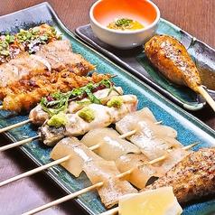 料理メニュー写真【串ぜんぶ盛り】人気の手打串 10本入り