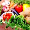 直接農家さんから仕入れる新鮮野菜達!