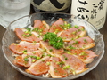 料理メニュー写真合鴨のカルパッチョ