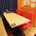 6名様用のテーブル席もご用意しています。