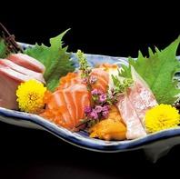 素材に拘った新鮮な魚。岡山の地酒と一緒に愉しめる。