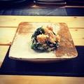 料理メニュー写真海老と春菊の白和え