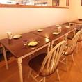 6名様テーブル席 ※席の結合をしております。