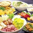 【特選!若月コース4000円(税込)~】単品のお料理はもちろんですが、お得なコースも数種類ご用意しております!お料理と2時間の飲み放題が付いて、飲んで食べて大満足!各種ご宴会にご利用ください!※写真はイメージです。