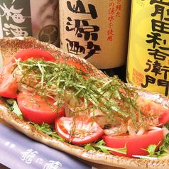 トマトと水菜の和風サラダ