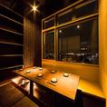 立川の夜景を一望できる夜景個室席を完備しております。少人数から団体様まで大小さまざまな個室をご用意してお待ちしております。