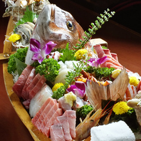 新鮮な魚介料理