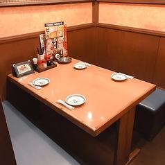 4名様用BOXタイプのテーブル席
