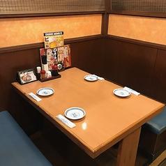 4名様用BOXタイプのテーブル席(半個室)