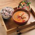 料理メニュー写真和風チキントマトシチューセット