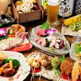 料理長渾身の逸品料理を楽しめる宴会コース