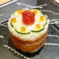 主役の方へ★寿司ケーキをご用意♪誕生日や記念日、歓送迎会にオススメです。