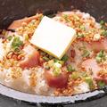 料理メニュー写真石焼ガーリックバターライス