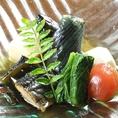 その季節の魚、野菜を使った伝統的な和食をご用意しております。