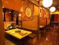 テーブル席の半個室。周りを気にしにくい造りなのでゆっくりお食事が楽しめます!