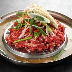 料理メニュー写真牛プルコギセット(韓国風すき焼き)