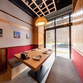 1階奥にある個室空間は6名様でお使いいただける隠れ家空間。