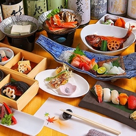 贅沢な肉料理や魚料理を豊富なコースでご賞味ください。