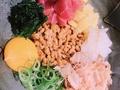 料理メニュー写真彩色納豆盛り