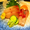 旬のお刺身ご用意しております!新鮮なお刺身を美味しいお酒でお楽しみください!
