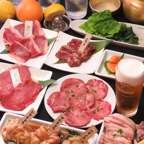 新潟駅前の大衆焼肉たすけ。暖簾をくぐれば活気ある空間と旨い肉!宴会コースも充実!