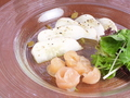 料理メニュー写真あやめ雪かぶと鶏の生ハムサラダ