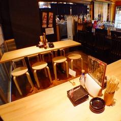 1Fテーブル席は気軽な感じで◎ふらっとサク飲みに入りやすい大衆酒場です♪