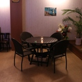 4名様のテーブル席です。※テーブルの移動・連結が可能なので、お客様の人数に合わせたお席をご用意いたします。