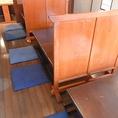 12名様用の堀ごたつ席(最大40名様まで収容可能。仕切りで卓を細かくわけることも可能。)