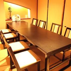 8名様までのテーブル個室
