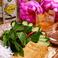揚げ豆腐と特性海老みそソース
