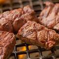 料理メニュー写真厚切り牛ハラミ  塩・タレ