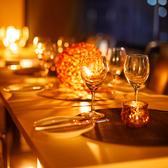梅田の夜景を2人占め…。モダンな造りの当店はカップルや2名様のお食事に最適!御予約はお早目に♪