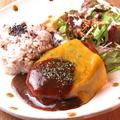 料理メニュー写真【カフェトラ自慢の自家製ハンバーグセット】